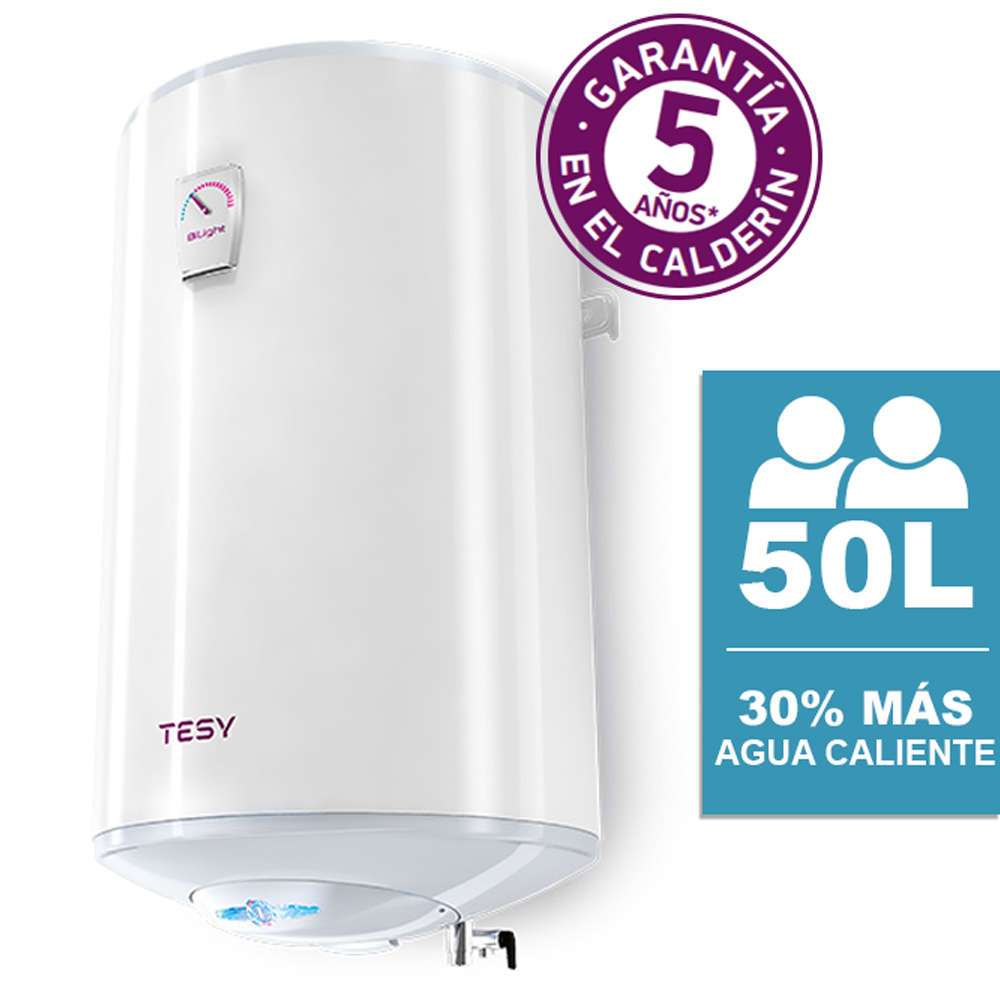 Tesy Bilight-Thermo Electric Vertical Installation 50 Liters With Patented Technology Energy Efficiency