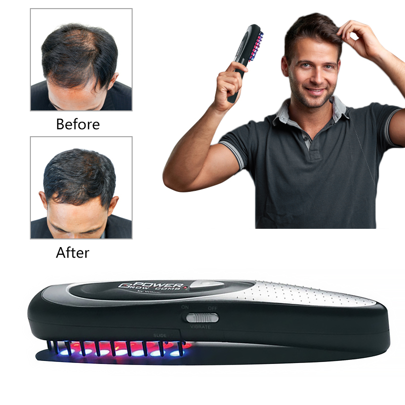 Laser Massage Comb Hair Growth Comb Equipment Comb Hair Growth Care Treatment Hair Brush Grow Laser Hair Loss Therapy Drop ship