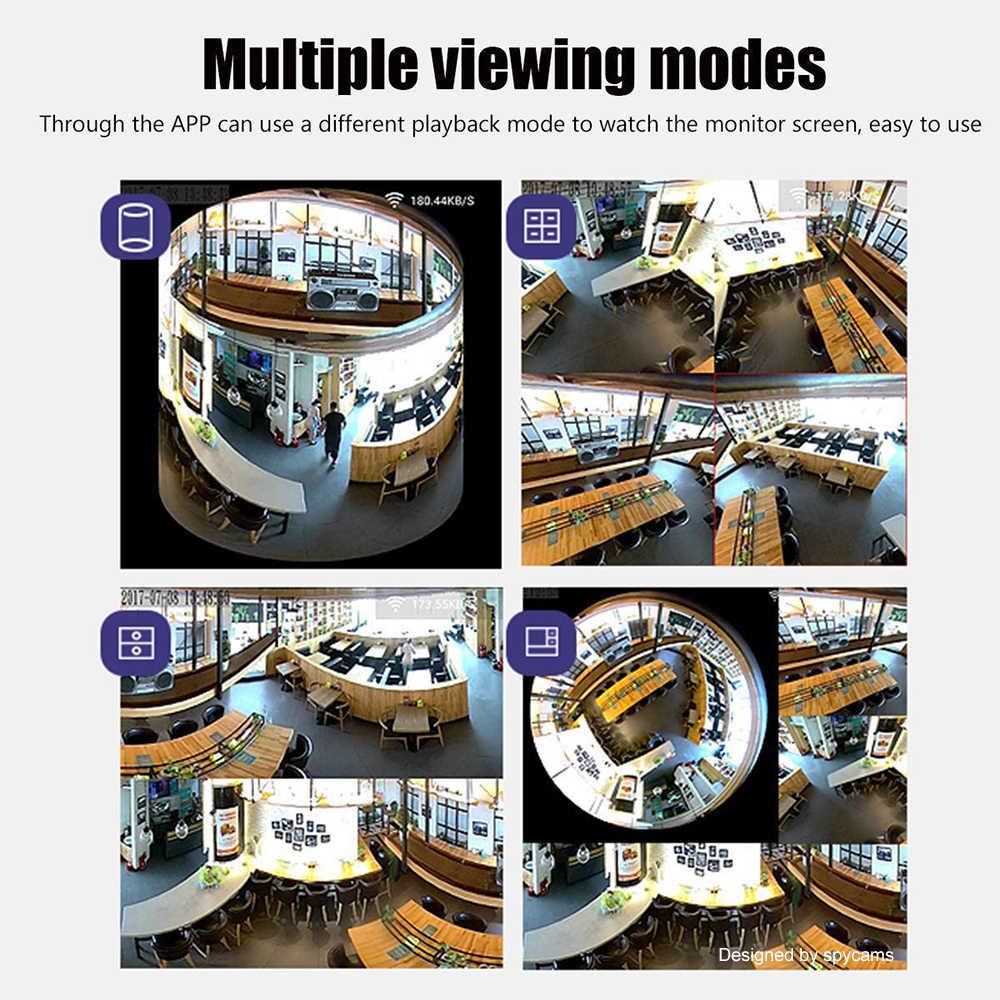 Bombilla panorámica, mini cámara HD 960P, 360 grados, ojo de pez, Wifi, CCTV inalámbrico, LED, Luz Oculta, lámpara IP P2P, cámara de seguridad para el hogar