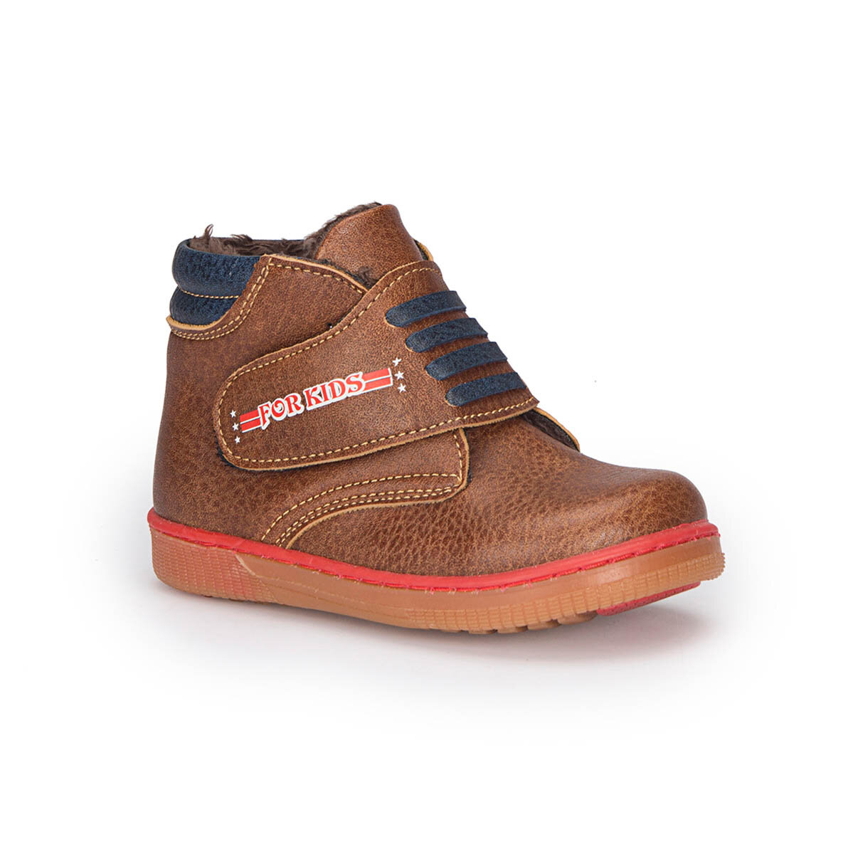 FLO 72.509563.B Brown Male Child Sneaker Shoes Polaris