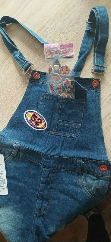 Girls Denim Overalls Summer Fashion New Children Clothing Casual Kids suspender trousers Girls short jeans 3-13T teenage jeans photo review