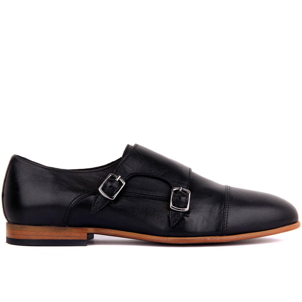 Sail-Lakers Black Leather Men 'S Shoes