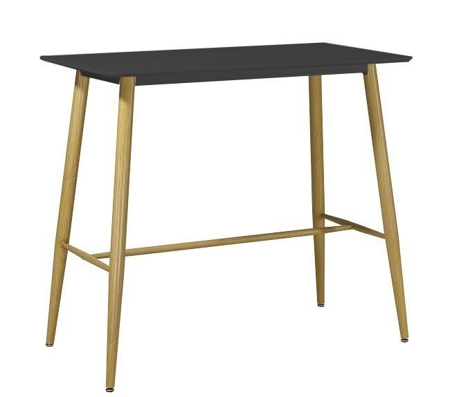 Table BETA, High Metal Black 120x60 Cms