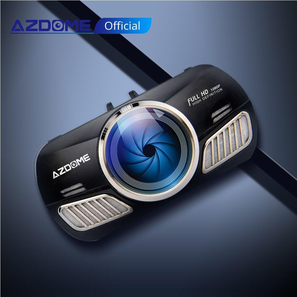 Polegada 2.5D AZDOME M11 Mini 3 IPS Tela Traço Cam Câmera Do Carro DVR Dual Lens Night Vision 24 HD1080P Completo H Monitor de Estacionamento Dashcam