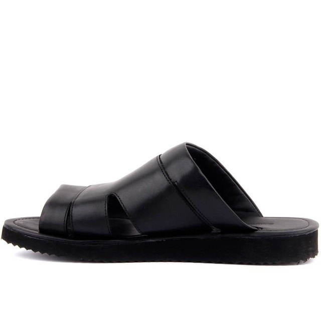 Sail-Lakers Black Genuine Leather Men's Casual Shoes