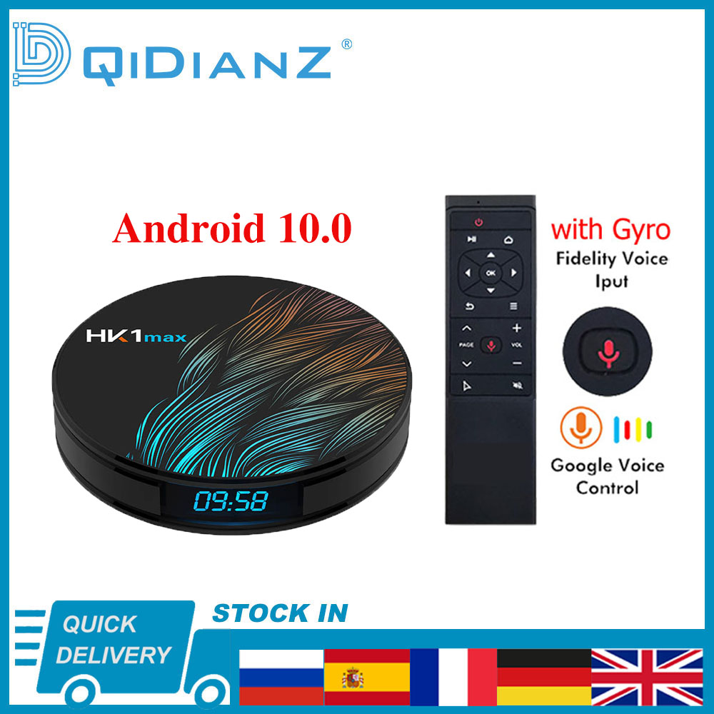 HK1MAX Смарт ТВ коробка Android 10,0 4K 1080P 4 ядра HK1 MAX RK3318 2,4/5G WI-FI Full HD Voice дистанционный пульт Media Player