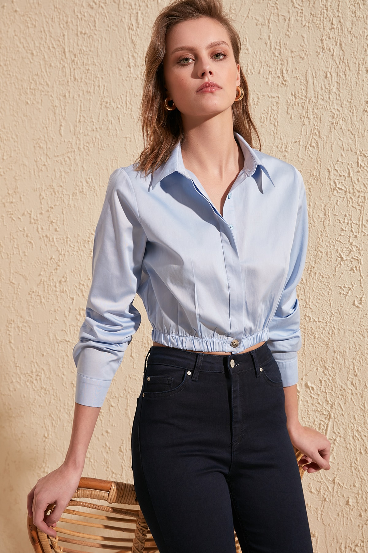 Trendyol Ruffle Detail Shirt TWOSS20GO0006