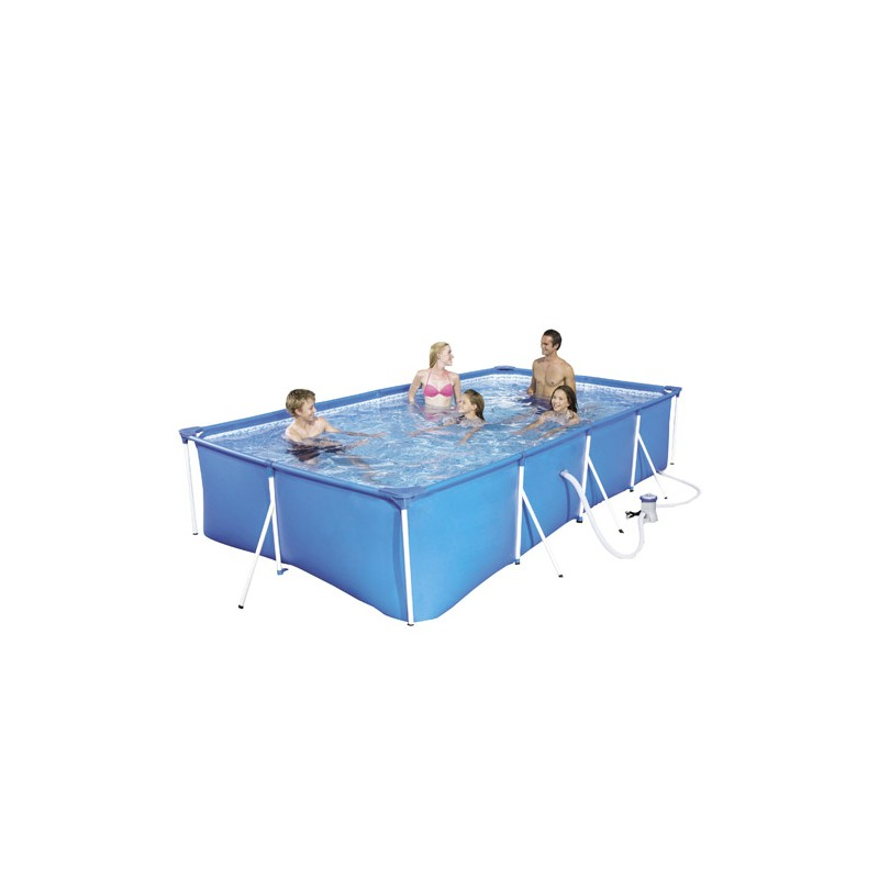 Rectangular Pool With Sewage 400x211x81 Cm.