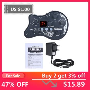 Ammoon PockRock przenośna gitara multi-effects procesor efekt pedałowy 15 typów efektów 40 funkcja strojenia rytmów perkusyjnych tanie i dobre opinie Drive MOD Delay REV DRUM