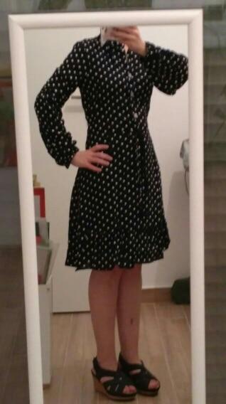 Vintage Ruffles Dot Print Dress Women Full Sleeve Stand Collar Button Slim Casual Spring Summer Dress Female 2020 New