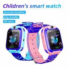 2021 dziecięcy Smart Watch wodoodporne dla dzieci 2G SOS LBS pozycjonowanie zegarek Smart anti-lost Tracker inteligentny zegar otrzymać telefon zwrotny od patrzeć jak prezent dla dzieci tanie tanio HESTIA CN (pochodzenie) Android OS Na nadgarstku Wszystko kompatybilny 128 MB Passometer Przypomnienie połączeń Odpowiedź połączeń