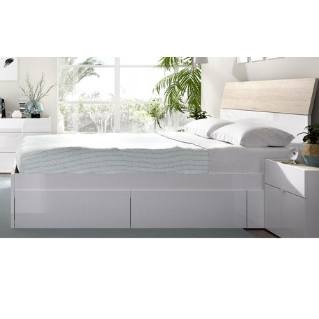 Bed Canape Alice For Mattresses 150x190 With 4 Drawers At The Bottom For Storage.