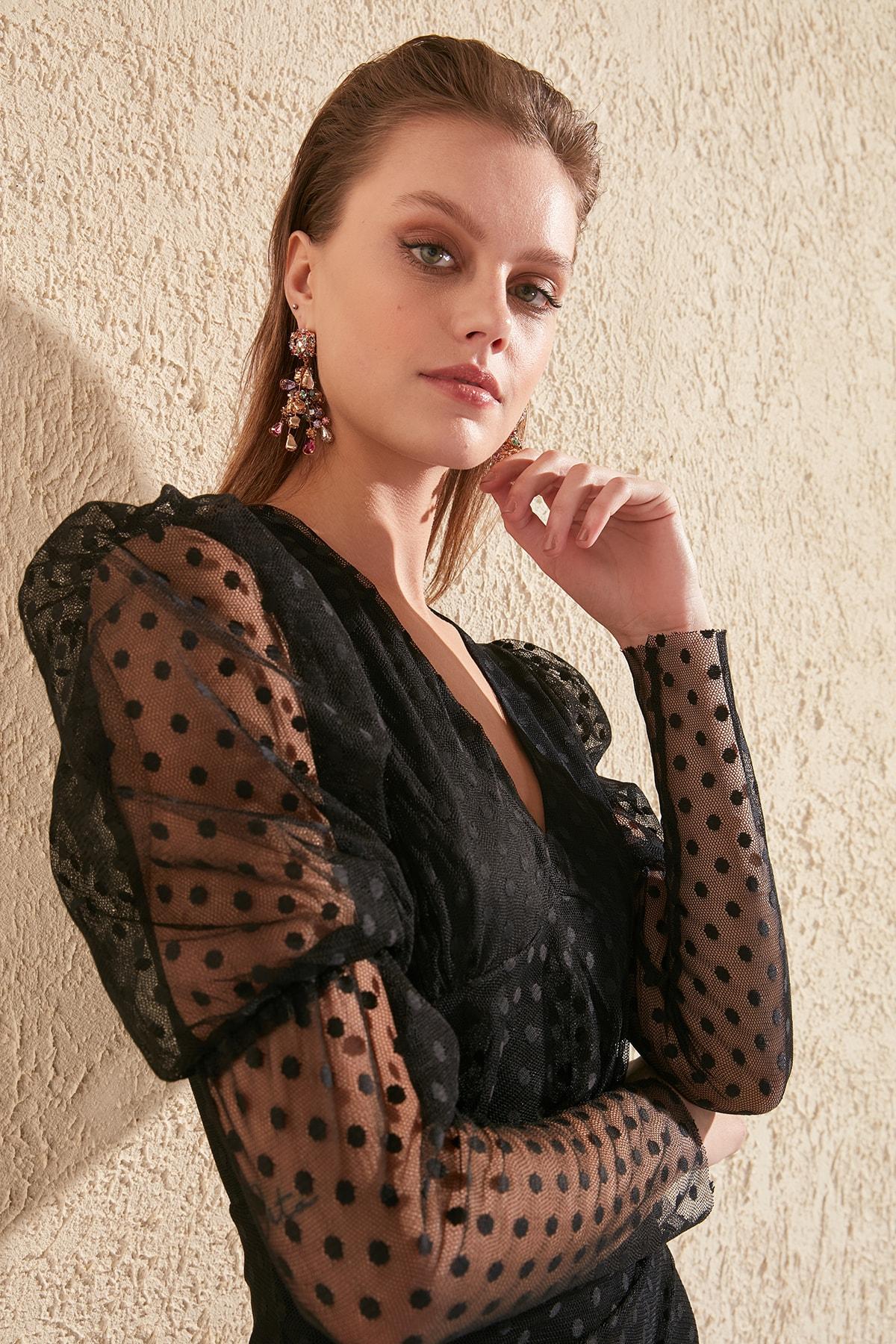 Trendyol Drape Detail Dress TPRSS20EL0182