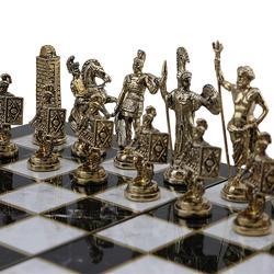 (Solo Pezzi Degli Scacchi) storico di Roma Figure Pezzi Degli Scacchi In Metallo Medio King Size 7 centimetri (Scheda non è Inclusa)