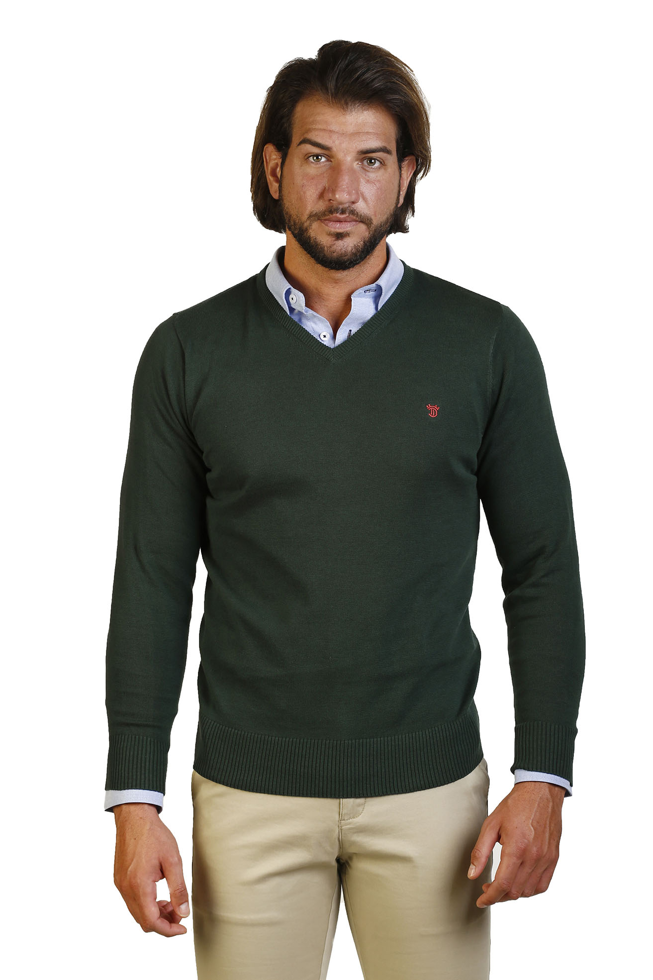 The Time Of Noggin Jersey Peak V Men Neck Collar Peak Green