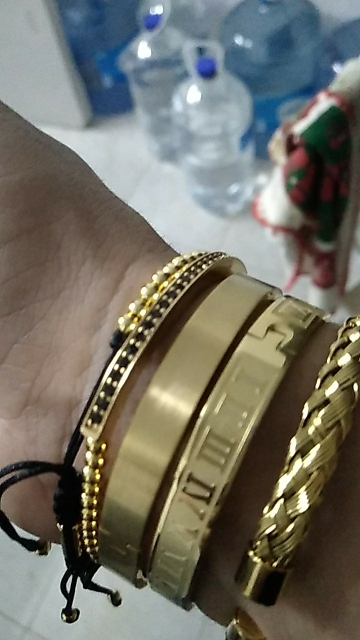 3pcs/Set Hot Men Titanium Bracelet photo review