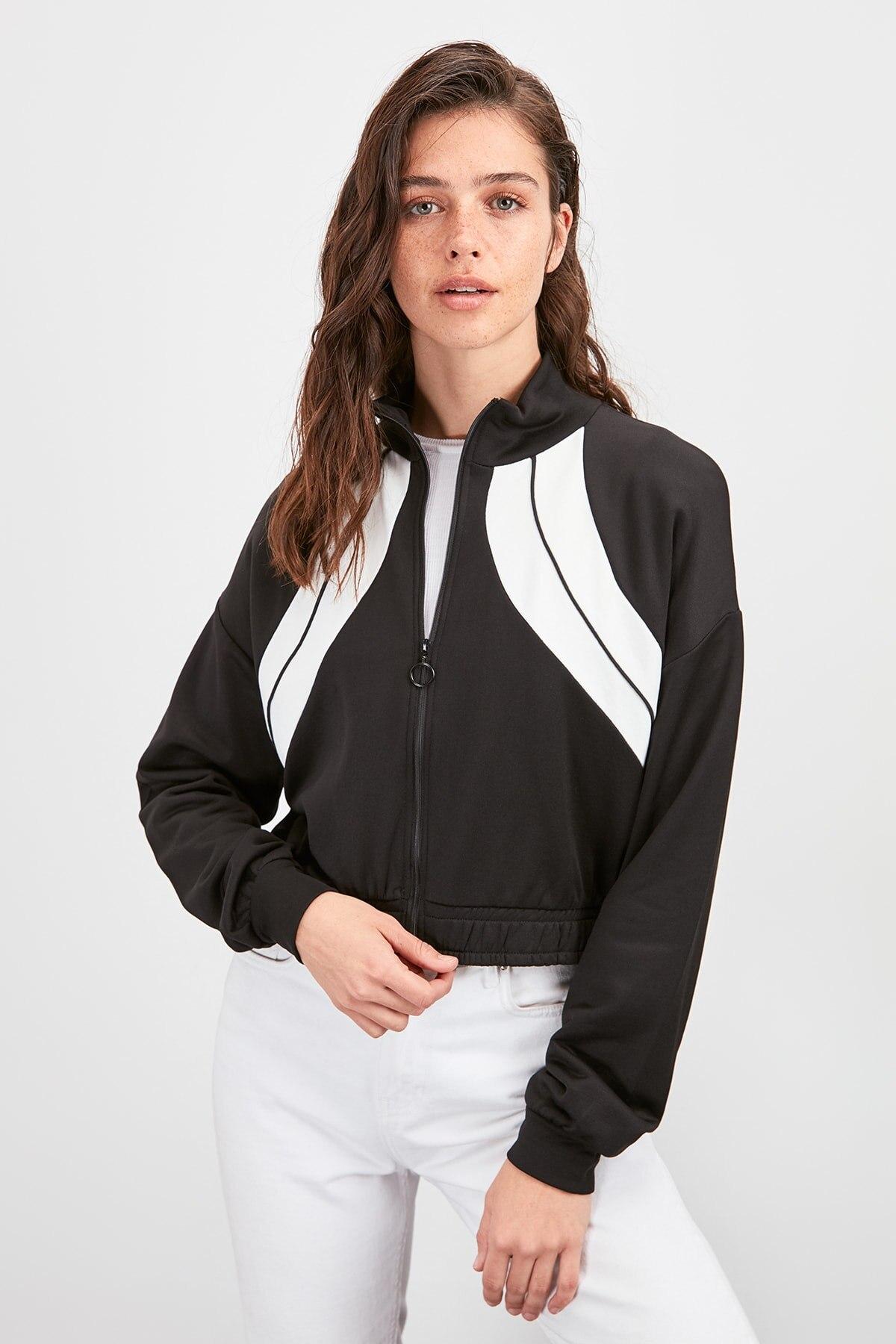Trendyol Zipper Knitted Sweatshirt TWOAW20SW0613