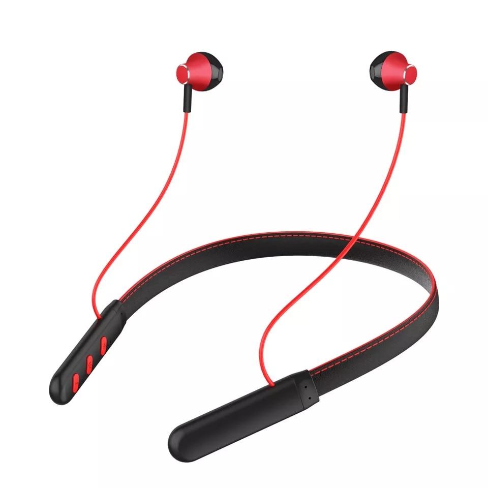 EARDECO Leather Neckband 24 Hours Playback Bluetooth Earphone Headphone Stereo Wireless Headphones Earphones Sport Headset Mic|Bluetooth Earphones & Headphones| |  - AliExpress