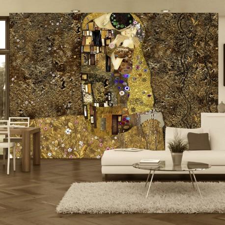 Photo Wallpaper-Klimt Inspiration-Golden Kiss