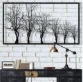 Металлическая настенная живопись  металлическая настенная живопись на дереве  табличка на дереве  Декор стен из металла  украшение интерье...