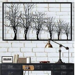 Металлическая настенная живопись, металлическая настенная живопись на дереве, табличка на дереве, Декор стен из металла, украшение интерье...