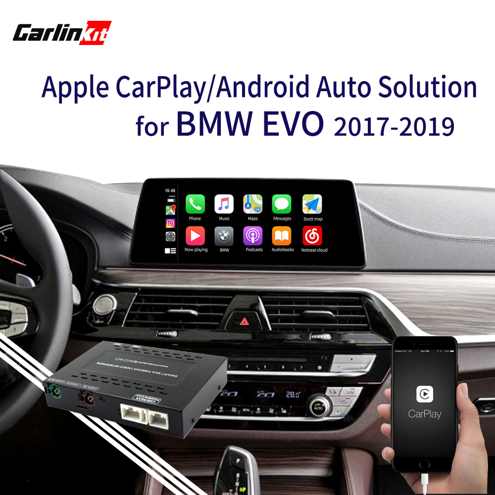 2020 Apple CarPlay Android Auto Retrofit kit for BMW EVO <font><b>1</b></font> 2 <font><b>3</b></font> 4 <font><b>5</b></font> 7series X3 X4 X5 X6 MINI F20 F30 G30 F25 F15 MirrorLink image
