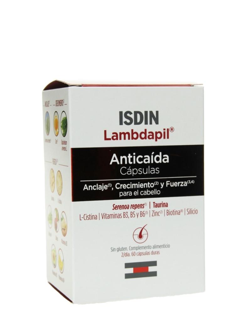 ISDIN lambdapil защита от падения 60 капсул предотвращает выпадение волос и сохраняет волосы здоровыми