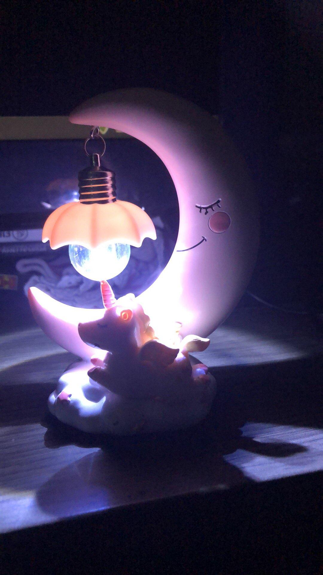 Lampe lune licorne pour enfant photo review