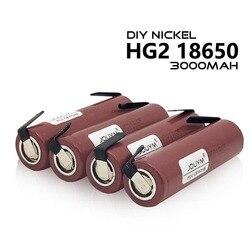 3.7V HG2 18650 Battery 3000mAh 18650 HG2 3.6V 20A High Power Discharge Li-ion Large Current Battery for screwdriver + DIY Nickel