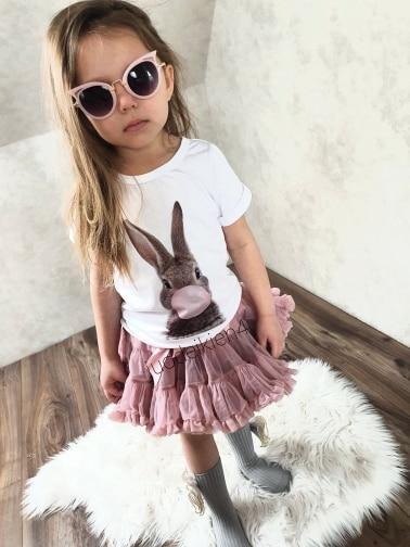 24M 3T 4T 5T 6T 7T 8T 9T Toddler Shirt Rabbit Bubble Blowing Cartoon Girls Boys Tshirt Spoof Girl T Shirt Children Clothes Cool photo review