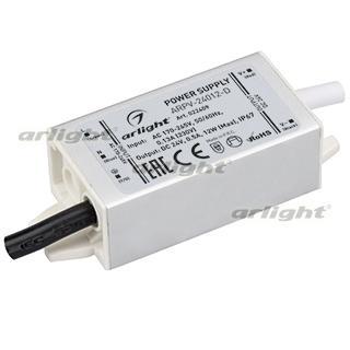 022409 Power Supply ARPV-24012-D (24 V, 0.5A, 12 W) [IP67 Metal 3 Years] Box-1 Pcs ARLIGHT-Блок Power Supply/AC/DC Power Supply ^ 20
