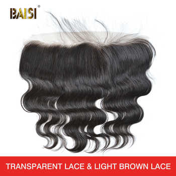 BAISI Hair Peruvian Body Wave Virgin Hair Swiss Lace Frontal Closure 13x4 Pre-Plucked Natural Hairline - DISCOUNT ITEM  63 OFF Hair Extensions & Wigs