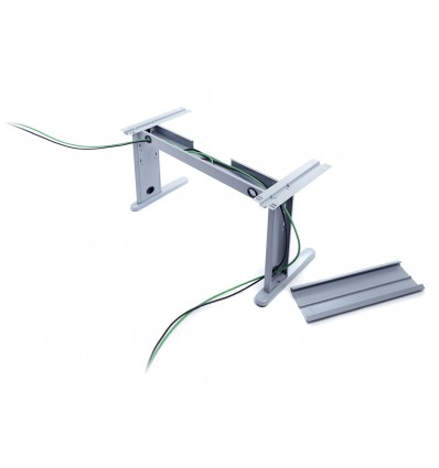 ADJUSTABLE OFFICE TABLE HEIGHT SERIES METAL L SHAPE RIGHT 160X120 ALUMINUM (THE FOOT COLUMN REFERENCE 2945 NOT INCLUDED