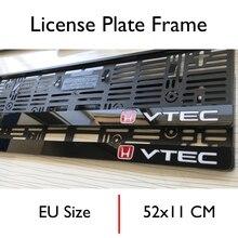 License-Plate-Frame Plexi-Material Exterior-Accessory Special-Design for Honda VTEC 2pieces