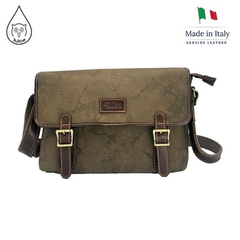 Juice - made in Italy,Genuine leather,Canvas and Top leather, Black/Brown,cross body men ,briefcase men,112249 fashionable men s briefcase with zippers and black colour design