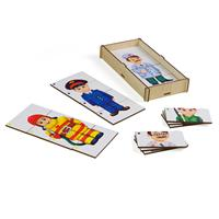 Puzzles PAREMO Game set \Compound pictures. Профессии 2\ wooden toys game for boys and girls for children learning fine motor skills puzzle children's educational basic Montessori skills Sorter