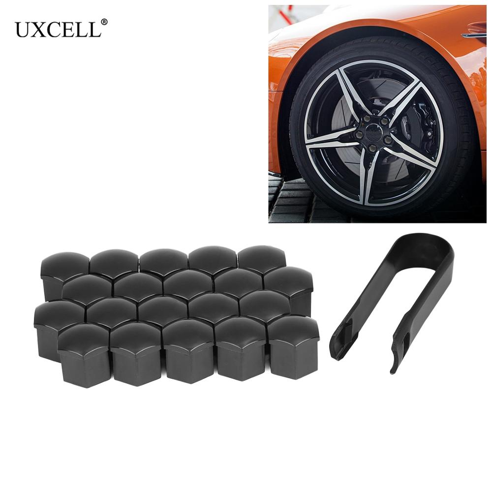 uxcell 100Pcs Blue Plastic Tire Air Valve Stem Caps Tyre Wheel Rims Dust Cover for Car