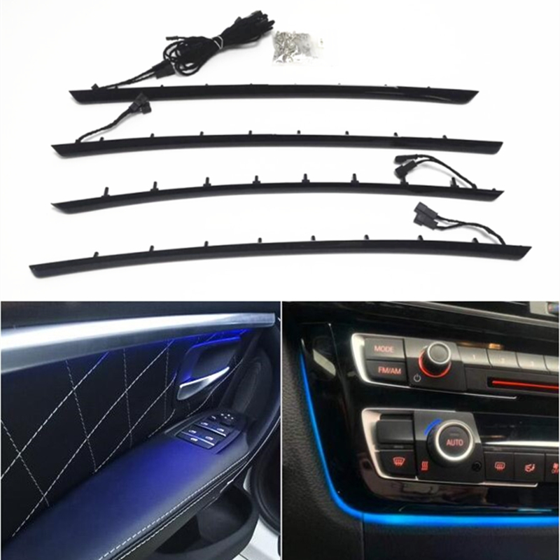 Interior Door Panel Decorative Ambient Moldings Light Atmosphere Lamp Lighting Led Ambient Lights For BMW 3 Series F30 F31