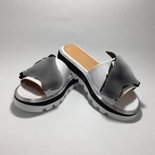 Women luxury design Platform Slippers Spring Summer Fashion Flip Flops Lightweight Comfy Sandals Genuine Leather Shoes