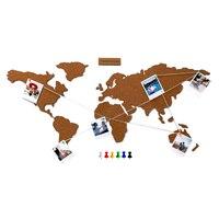 Flamingueo Mapa Mundi Corcho Pared Mapa del Mundo con Chinchetas para Fotos Polaroid Mapa para Marcar Viajes 45,5x100 cm