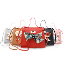 Messenger Crossbody Bags Female HandBags shoulder phone Sling Lady girl PU Leather Scarves Purse fashion women bag for school