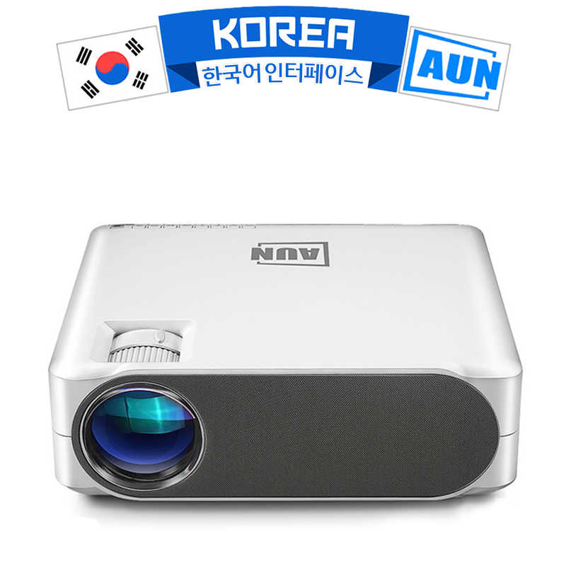 AUN 2019 Baru Full HD Proyektor AKEY6, 1920X1080P, opsional AKEY6S Android WIFI 3D Video Proyektor LED Proyektor untuk 4K Home Cinema