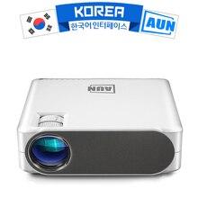 AUN 2019 ใหม่Full HDโปรเจคเตอร์AKEY6, 1920X1080P,อุปกรณ์เสริมAKEY6S Android WIFI 3D Video Beamer,โปรเจคเตอร์LEDสำหรับ 4K Home Cinema