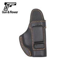 Gunflower тактический Высокое качество Черный IWB Италия кожа внутри пояс пистолет кобура для Sig P365