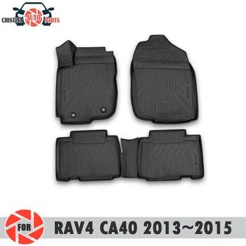 Tappetini per Toyota Rav4 CA40 2013 ~ 2015 tappeti antiscivolo poliuretano sporco di protezione interni car styling accessori