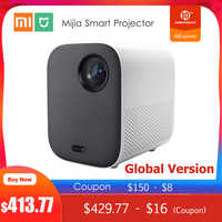 Global Version Xiaomi Mijia DLP Projector 1080P Full HD Android TV 9.0 500ANSI 2.4G / 5G WiFi Bluetooth LED Projector