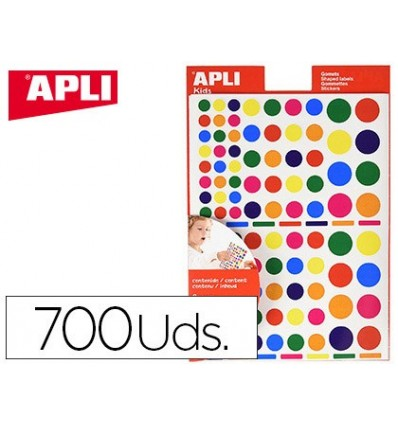 GOMETS APLI SELF ADHESIVE SHAPES ASSORTED MULTICOLOR BLISTER 6 SHEETS