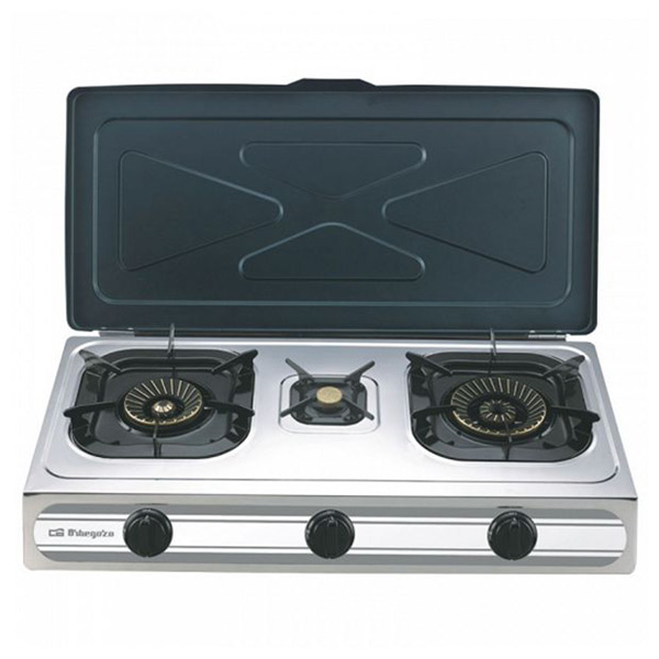 Gas Stove Orbegozo FO3500 Stainless Steel (3 Stoves)