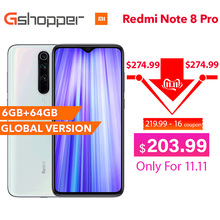 "Global Version Xiaomi Redmi Note 8 Pro 6GB RAM 64GB ROM Smartphone 64MP Four Rear Camera MTK Helio G90T Octa Core 6.53"" 4500 mAh"