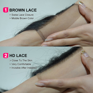 Image 4 - ALI GRACE cheveux brésilien corps vague HD dentelle frontale 13X4 oreille à oreille partie libre 100% Remy cheveux humains moyen brun dentelle frontale